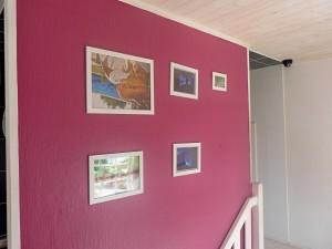 Obrazy na schodišti