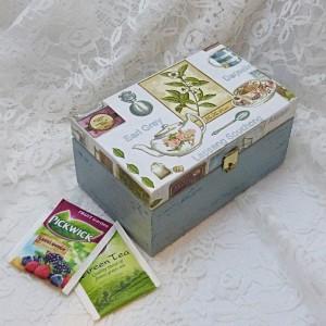 krabička na čaj s rovným víkem