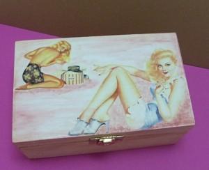 Krabička na čaj - pro muže, detail