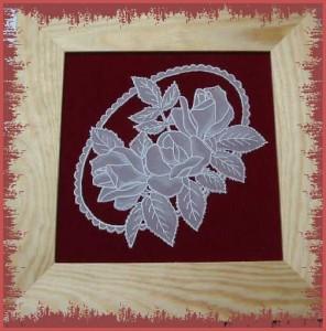 pergamano s růžemi