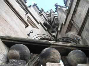 pohled na výzdobu věže